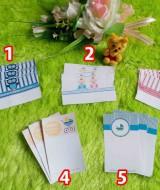 FREE kartu ucapan bayi jika berbelanja paket kado bayi di KEMBARSHOP