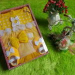 paket kado bayi dress polka kuning