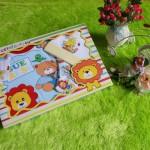 paket kado bayi lion biru topi kuning