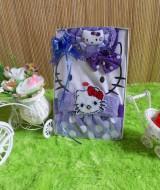 TERCANTIK paket kado bayi hello kitty ungu 45 terdiri dari dress bayi hello kitty,turban hello kitty,dan bandana hello kitty cantik banget