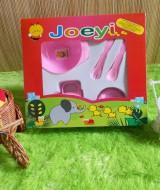 TERMURAH gift set bayi kado bayi peralatan makan bayi Joeyi pink 30rb terdiri dari mangkok,sendok,garpu,dan gelas cangkir