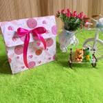 kemasan kado, bungkus kado, gift bag PITA polka pink