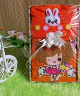 paket kado bayi ORANGE CANTIK 57 terdiri dari sweater orange dan topi rajut orange cantik cocok untuk 0-9 bulan