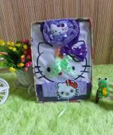TERCANTIK paket kado bayi hello kitty ungu Rp 45.000 terdiri dari dress bayi hello kitty,turban hello kitty,dan bandana hello kitty cantik banget