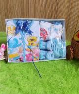 TERLARIS paket kado bayi newborn gift set SERBA BIRU -02 HEMAT BANGET Rp 42.000 terdiri dari baju,celana,kaos kaki boneka,dan slaber - hemat banget untuk kado bayi