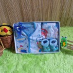 paket kado bayi newborn gift set SERBA BIRU HEMAT BANGET
