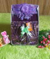 paket kado bayi JODA UNGU 50 terdiri dari baju atasan panjang adem lembut,rok joda ungu emas,dan bandana topi cantik muat untuk 0-12bulan
