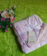 selimut carter double fleece bayi motif gajah pink 60 bahan tebal dan lembut banget cocok juga untuk kado (4)