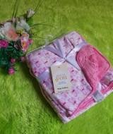 selimut carter double fleece bayi motif kupu pink 60 bahan tebal dan lembut banget cocok juga untuk kado (3)