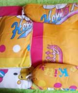 PALING MURAH kasur bayi plus bantal dan dua guling motif hello kitty 45 ukuran kasur 53x50cm,juga cocok untuk kado