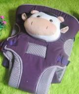 PALING LARIS gendongan depan bayi boneka sapi ungu Rp 75.000 kuat dan nyaman, cocok untuk kado