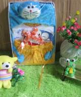 Paket kado bayi baby Gift Doraemon Kuning 57 terdiri dari setelan kaos kutung doraemon plus Topi doraemon biru,muat utk 0-12bulan,cocok utk penggemar doraemon