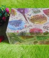 kotak kado giftbox kemasan kado motif menara eiffel paris serie-A 22 tebal,bisa dipakai berulang kali,jadikan kadomu lebih istimewa,dimensi ukuran 21x16x8,5 cm