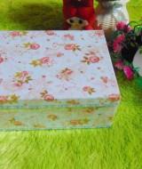 kotak kado giftbox kemasan kado motif shabby chic biru serie-A 22 tebal,bisa dipakai berulang kali,jadikan kadomu lebih istimewa,dimensi ukuran 21x16x8,5 cm
