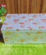 kotak kado giftbox kemasan kado motif shabby chic biru serie-C 24 tebal,bisa dipakai berulang kali,jadikan kadomu lebih istimewa,dimensi ukuran 31x16x10cm