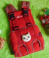 gendongan bayi depan claudia baby merah boneka 75 bahan kuat dan lembut untuk menggendong bayi,juga cocok untuk kado