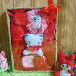 Paket Kado Bayi Baby Gift Dress Merah Mekar Hello Kitty Series