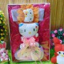 Paket Kado Bayi Baby Gift Dress Pink Fanta Mekar Hello Kitty Series 57 terdiri Dress pesta,bandana hello kitty dan dompet boneka, serta boneka hello kitty cantik