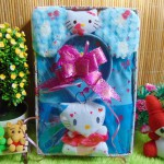 Paket Kado Bayi Baby Gift Dress Biru Hello Kitty Series