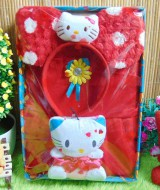 Paket Kado Bayi Baby Gift Dress Merah Hello Kitty Series 57 terdiri Dress pesta bayi 0-12bln,bando telinga hello kitty dan serta boneka hello kitty cantik