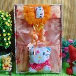 Paket Kado Bayi Baby Gift Dress Peach Hello Kitty Series