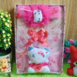 Paket Kado Bayi Baby Gift Dress Soft Pink Hello Kitty Series