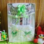 paket kado bayi 0-12bln baju koko putih sholeh PLUS PECI sablon