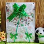 paket kado bayi newborn baju koko putih sablon PLUS PECI sablon