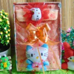 kado Lahiran Paket Kado Bayi Baby Gift Dress Peach Hello Kitty Series