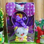 kado Lahiran Paket Kado Bayi Baby Gift Dress Ungu Hello Kitty Series