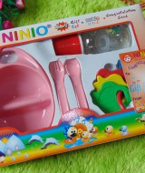 paket kado bayi kado melahirkan kado tempat makan bayi feeding set NINIO pink 43