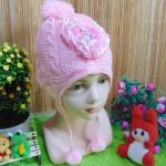 Topi Rajut Bayi Wol Soft Pinky Super Soft Frozen 0-2th