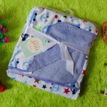 selimut bayi carter double fleece lembut hangat motif blue cars