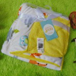 selimut bayi carter double fleece lembut hangat motif yellow animals