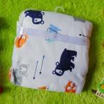 Kado bayi baby gift selimut carter double fleece bayi motif beruang kutub