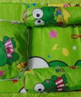 PALING MURAH kado bayi set kasur bayi karakter keroppi plus bantal dan guling (2)