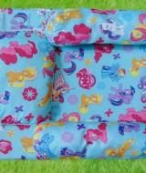 PALING MURAH kado bayi set kasur bayi karakter little pony plus bantal dan guling 45 terdiri dari 1 kasur,2guling,1bantal,uk kasur 55x47cm cocok untuk kado bayi