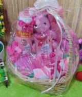 TERLARIS paket kado bayi baby gift kado Melahirkan-keranjang LOVE komplit- parcel Parsel bayi bingkisan bayi baby hampers ANEKA WARNA (1)