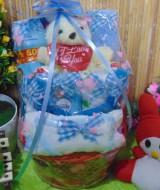 TERLARIS paket kado bayi baby gift kado Melahirkan-rotan cute pot komplit- parcel parsel Bayi bingkisan bayi baby hampers ANEKA WARNA (3)
