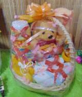 TERLARIS paket kado bayi baby gift kado melahirkan-keranjang LITTLE LOVE komplit- parcel parsel bayi bingkisan bayi baby hampers ANEKA WARNA (1)