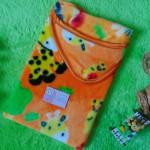 kado bayi selimut bayi bulu topi selimut bepergian bayi bludru lembut motif jerapah orange