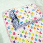 EKSKLUSIF Kado Bayi Baby Bedding Set 4in1 Matras Perlak Set Bantal Peang Plus 2 Guling motif Kucing Aneka Warna