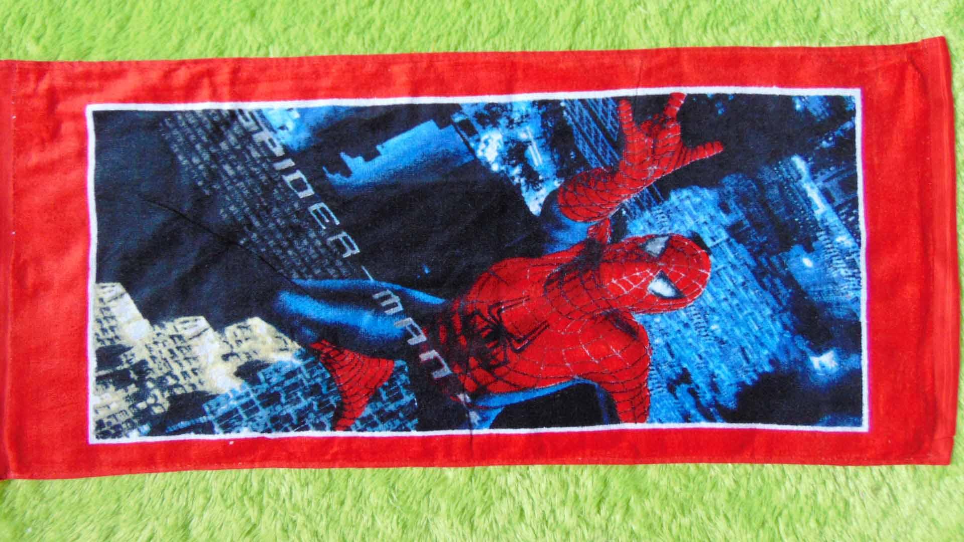 TERLARIS handuk karakter spiderman kado hadiah anak bayi 22 dengan motif yg disukai anak2,panjang 75cm,lebar 33cm,juga cocok untuk kado anak atau bayi