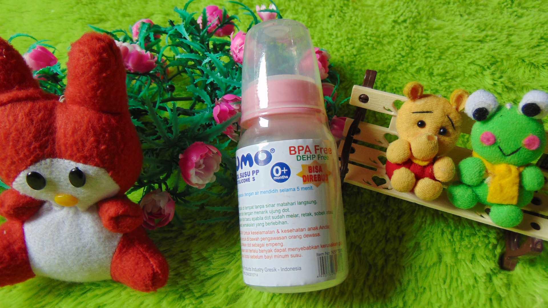 TERMURAH Kado Bayi Botol Dot Susu Bayi Sumo BPA FREE DEHP FREE Warna Pink (2)