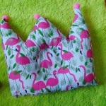 kado bayi Bantal mahkota crown pillow bantal peyang Peang bayi baby motif flamingo 37