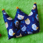 Kado bayi Bantal mahkota crown pillow bantal peyang Peang bayi baby motif kucing navy