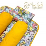 EKSKLUSIF Kado Bayi Baby Bedding Set 4in1 Matras Perlak Set Bantal Peang Plus 2 Guling motif Anime Kuning