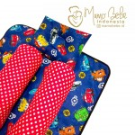 EKSKLUSIF Kado Bayi Baby Bedding Set 4in1 Matras Perlak Set Bantal Peang Plus 2 Guling motif Cars McQueen n Friends