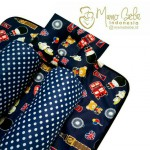 EKSKLUSIF Kado Bayi Baby Bedding Set 4in1 Matras Perlak Set Bantal Peang Plus 2 Guling motif London Navy