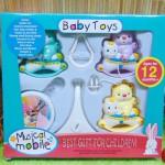 Kado bayi baby gift mainan bayi gantung musical mobile baby toys motif beruang naik kuda